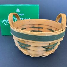 Longaberger Tree Trimming 1999 Peppermint Basket Set Green 1st in Series