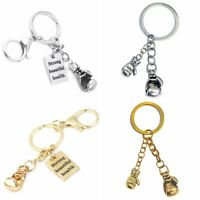 Boxing Glove Charm Metal Keychain,Strong,Beautiful,Health Key Ring