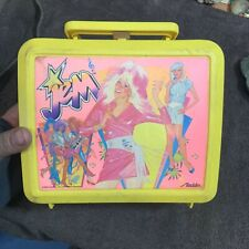 JEM  Vintage 1986 YELLOW PLASTIC LUNCHBOX Only ALLADIN - FAIR CONDITION