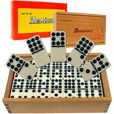 Conjunto de Fichas de Dominó Juego Doble Nueve con Caja Dominoes Set