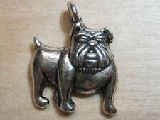 7 Tibetaans zilveren hangers 'bulldog'