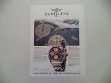 advertising Pubblicità 1997 BREITLING CHRONOMAT GT