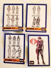 Gi JOE 2014 JOECON Super Rare Chase  Card Set Of 4 With Baroness Card