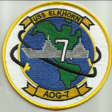 US NAVY - USS ELKHORN AOG 7 GASOLINE TANKER SHIP MILITARY PATCH