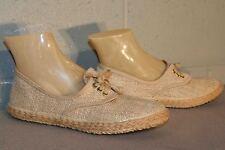 5.5 Nos Vtg 1970s Natural Burlap Deck Sneaker 70s LaCrosse Solaires Tennis Shoe