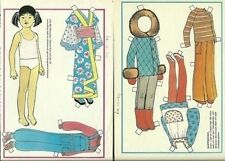 Lilla Ma Wong Children from China Series Vintage Swedish Sweden Paper Doll