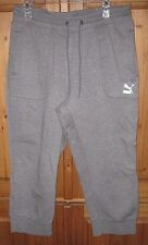 Puma Men's Joggers Sweat Pants Three Quarter Gray Lounge Athletic size XL NEW