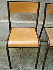 chaise d'école d'atelier  Mullca 511 en bois et métal taille adulte H.80 cm