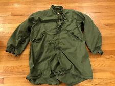 "Vintage M-65 OD Green Fishtail Parka ""Arctic, Men's"" ~Large w/Liner WORN"