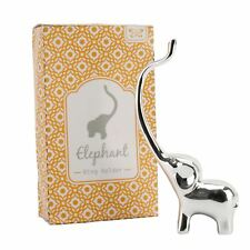 Silver Coloured Jewellery Ring Tree Holder / Ring Tidy - Elephant