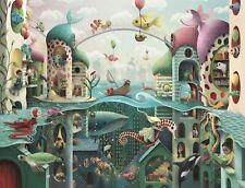 Puzzle de Fantasia 2000 piezas Ravensburger 16823 si los peces pudieran caminar