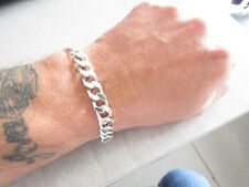 Quality solid sterling silver curb bracelet 8.25 inches long