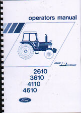 1982 Ford 2610/3610/4110/4610 Series 10 Tractor Operator Manual Book