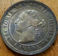 Canada 1901 One Cent UNC Die Crack OBV *** Check It Out!!  KM# 7  #AA211-6