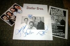Statler Brothers Autographed photo & Photos Country - Real Collectible