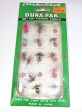 Dura-Pak Fly Fishing Flies Bait Tackle Blister Pack T*