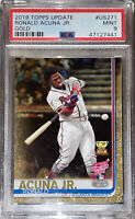 💎2019 Ronald Acuna Jr. TOPPS GOLD UPDATE ALL STAR ROOKIE #US271 /2019 PSA 9 BGS