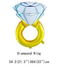 I DO, engagement Wedding Stag Hen foil Diamond ring foil balloon