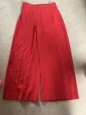 Zara Size M Red Cullottes