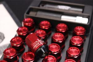 Project KICS Leggdura Racing Shell Closed 35mm 12x1.5 Lug Nuts RED JDM