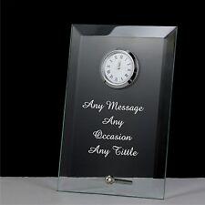 personalised engraved glass clock  christmas gift, mum, mom, nan , sister gifts