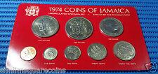1974 Coins of Jamaica Uncirculated Specimen Set (1,5,10,20,25 Cents, $1,$5,$10)