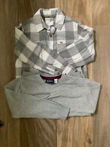Boys Button Front Shirt And Sweater Size 7, 7/8