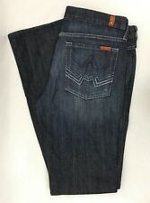 7 For All Mankind EUC 32 34x33 A Pocket Ombre Dark Wash Bootcut Stretch Jeans