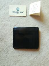 Tumble & Hide Black Leather Wallet Boxed