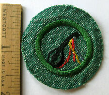Vintage 1948-1955 Girl Scout MINSTREL BADGE Lute Instrument Music Patch
