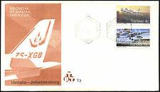 TRANSKEI 1977 AIRWAYS VOLO INAUGURALE FDC PRIMO GIORNO DI COPERTURA #C41525
