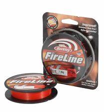Berkley Fireline 270m 0,17mm 10,2kg rot geflochtene Schnur Angelschnur