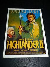 HIGHLANDER II, film card [Christopher Lambert, Sean Connery, Virginia Madsen]