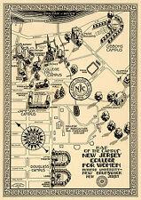 ca1921 Pictorial Cornell University Campus Map Art Print Poster Dorm Decor