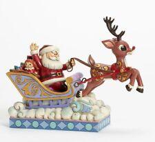 Rudolph Traditions Jim Shore Rudolph Guiding Santa Sleigh Figure