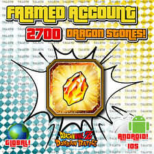 🔥 DOKKAN BATTLE GLOBAL | FRESH FARMED ACCOUNT with 2700+ STONES! ANDROID/IOS 🔥