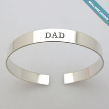 Engraved Mens Bracelets. Personalized Sterling Silver Cuff for Men. Custom Gift