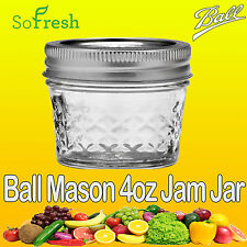 12 x Ball Mason Genuine Quilted 4oz 120ml BPA FREE Jars & Lids Jam Candle Making