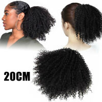 Women Afro Hair Synthetic Kinky Curly Wrap Ponytail Puff Drawstring Extensions