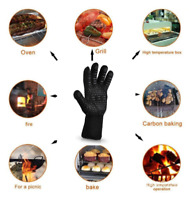 1PC 300-500 Centigrade Heat Resistant Grilling Cooking Gloves Mitts Oven Cooking