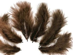 1/4 lb. Brown Turkey Marabou Short Down Fluffy Loose Wholesale Feathers Bulk Fan