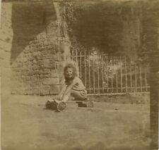 PHOTO ANCIENNE - VINTAGE SNAPSHOT - ENFANT VOITURE PÉDALES VOITURETTE JOUET -TOY