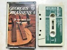 GEORGES BRASSENS 4 K7 AUDIO TAPE c21