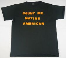 Rare VTG B.G.T's Count Me Native American T Shirt 90s American Indian Heritage L