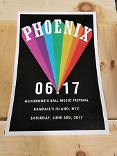 Phoenix band poster 2017  Governor's Ball Phoenix concert poster