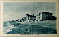 Cartolina Formato Piccolo - S. Vincenzo (Livorno) - Spiaggia Viaggiata