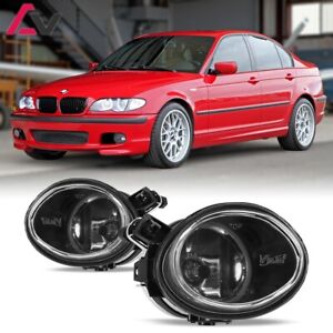 For BMW E46 01-06 Clear Lens Pair Bumper Fog Light Lamp OE Replacement DOT Bulb
