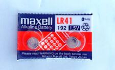 2x Maxell LR41, 192, AG3 Alkaline Battery 0% Hg Expirey 12-2020 **Post from MELB