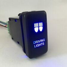 Car 12V-24V Push Switch Blue LED Fog Light For Toyota FJ Cruiser Fortuner Hilux