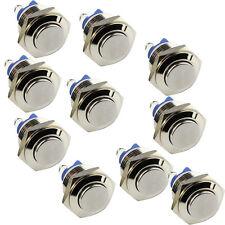 2 pcs 3 A métal momentanée Commutateur 12V16mm 5//8 Starter Bouton US Vendeur